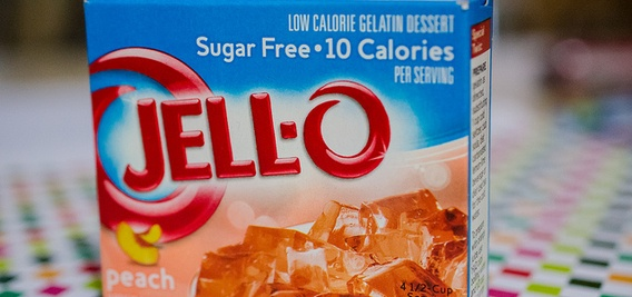 label claim on Jell-O
