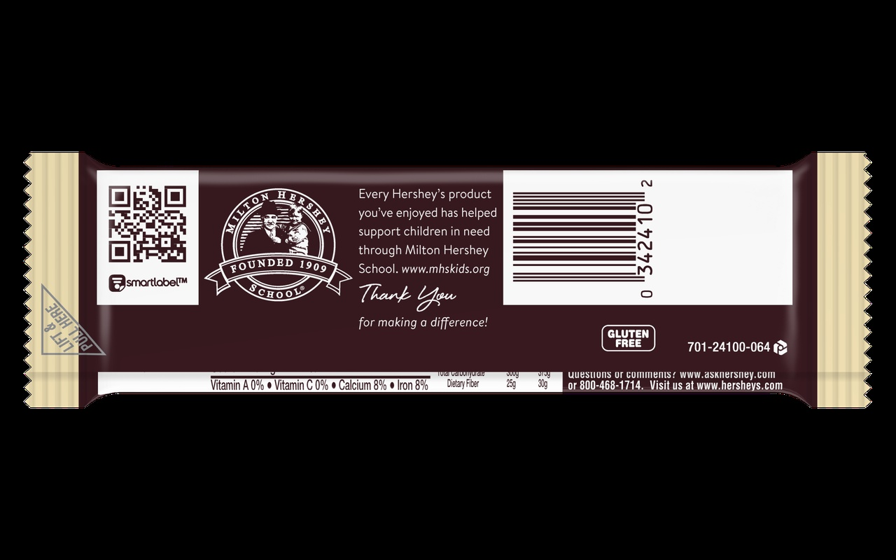 SmartLabel on Hershey bar