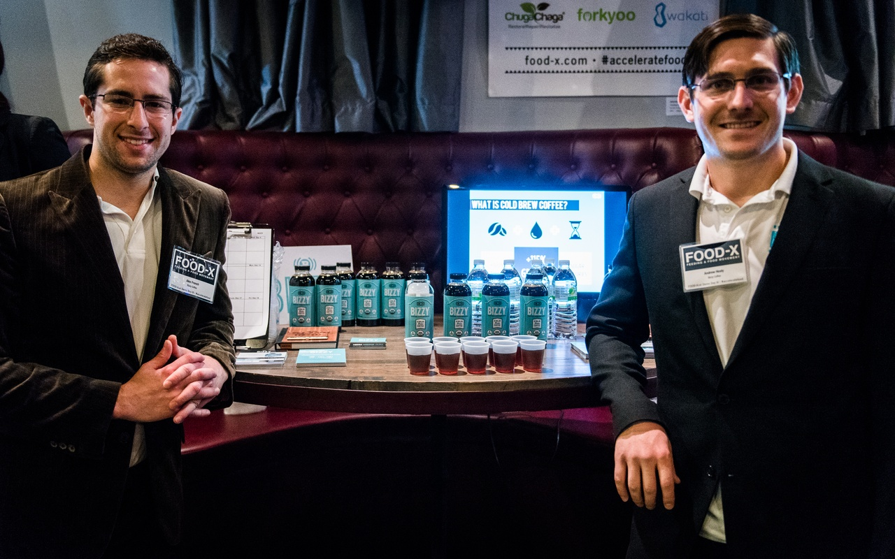 Bizzy Coffee startup co-founders Alex French and Andrew Healy