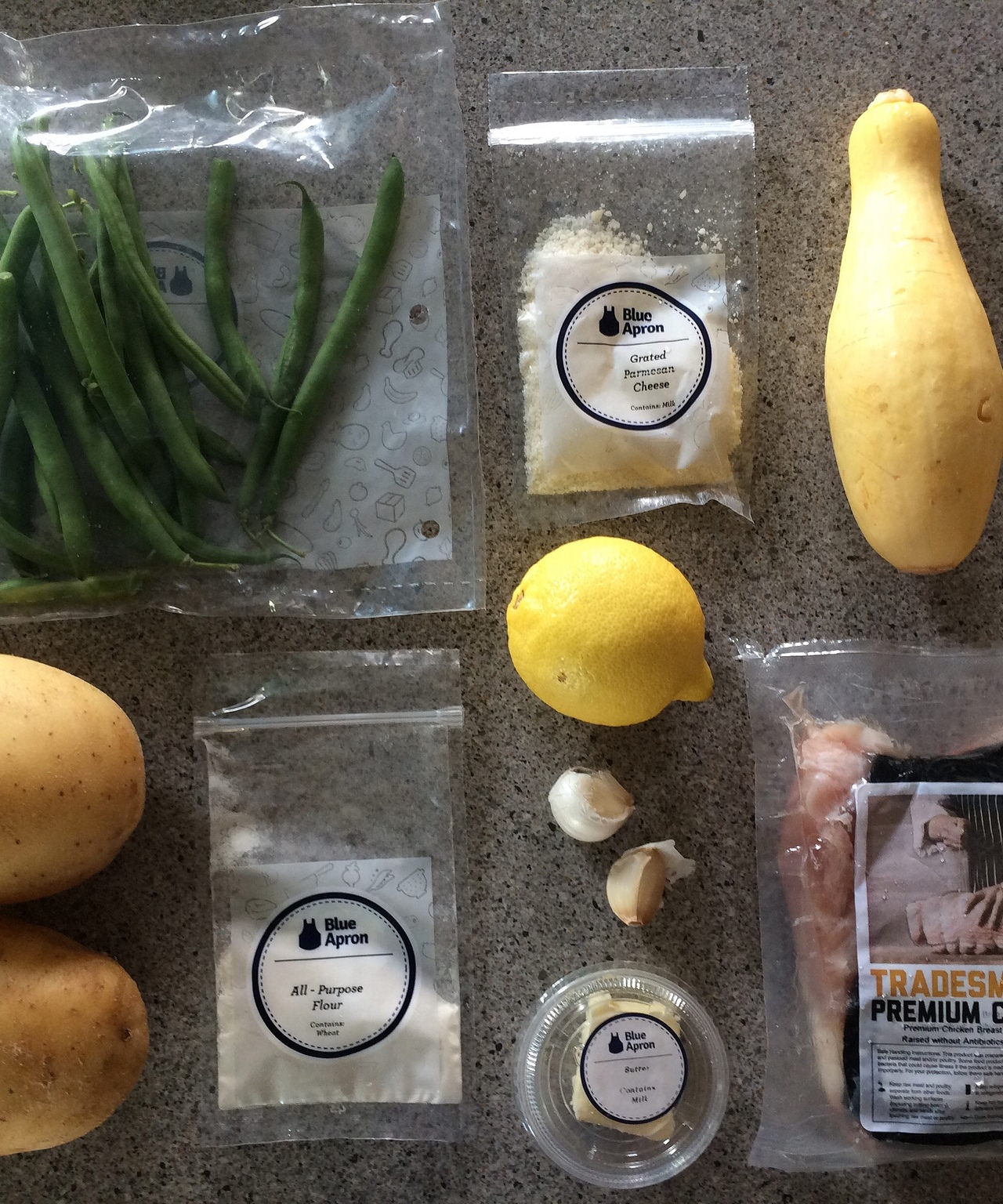 meal kit components