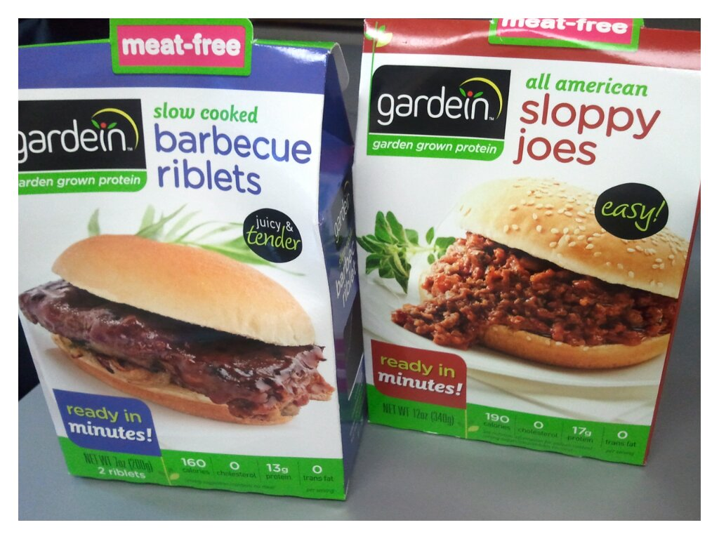Frozen food Birds Eye and Gardein vegeterian meals
