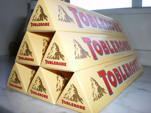 toblerone packaging design